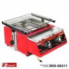 FOMAC Panggangan Sosis Steak Ayam Ikan Gas Roaster BBQ Kompor 2 Tungku ROS-GK211