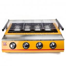 SEAGULL Panggangan Gas Roaster BBQ Kompor 4 Tungku ET K222 B