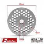 FOMAC Sparepart Saringan Mesin Gilingan Daging MGD 12A Lubang 5mm